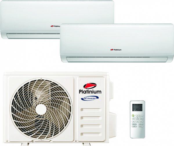 Aer conditionat DUBLU SPLIT, Platinium 9000 +9000 BTU, Inverter, Auto diagnoza, Refrigerant ecologic R32